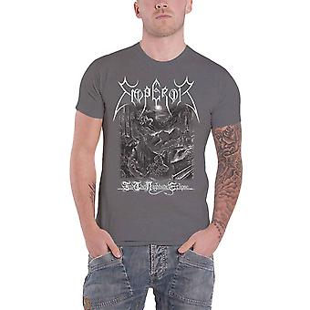Emperor T Shirt In The Nightside Eclipse Band Logo nieuwe Officiële Mens Grey