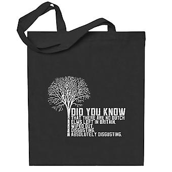 Alan Partridge Dutch Elm Did You Know Quote Totebag