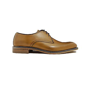 Loake Drake Tan Burnished Calf Leather Mens Derby Shoes