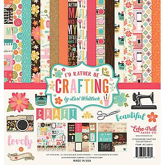 Echo Park I'd Rather Be Crafting 12x12 Inch Collection Kit
