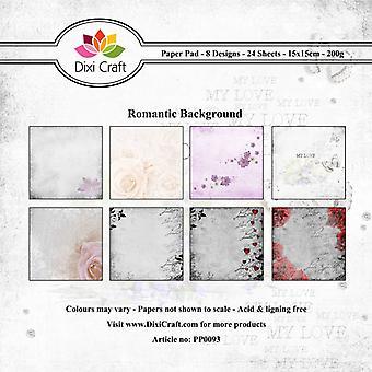 Dixi Craft Romanttinen tausta 15x15cm paperityyny