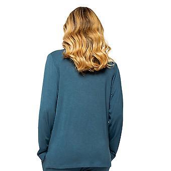 Cyberjammies Elena 4575 Mujeres's Teal Blue Pyjama Top