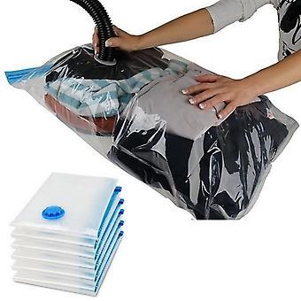 Transparent Foldable Vacuum Seal Storage Bag Organizer For Clothes Quilt