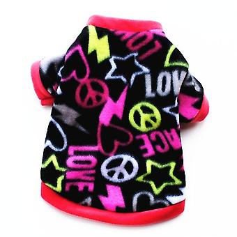 Warm Fleece Cute Skull Printed Pet Coat Puppy Dogs Shirt Jacket Clothing