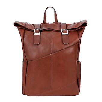 """88734, S Series Kennedy 17"""" Leather Dual Access Laptop Backpack"""