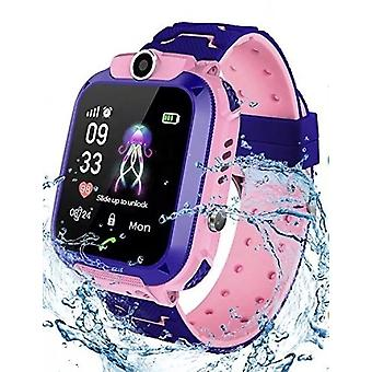Smartwatch Watch Q12 for Kids GPS Location History Phone Locator Waterproof Pink