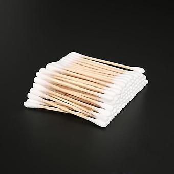 Double Head Disposable Makeup Cotton Swab - Soft Buds For Medical Wood Sticks,