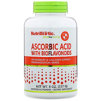 NutriBiotic, Immuniteit, Ascorbinezuur met Bioflavonoïden, Kristallijn poeder, 8 o