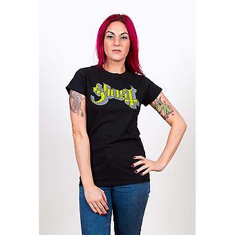 Ladies Ghost Green/Grey Keyline Logo Official Tee T-Shirt Female