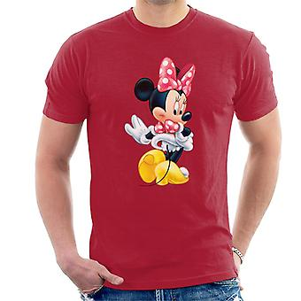 Disney Christmas Minnie Mouse Showing Off Her Shoes Men's T-Shirt