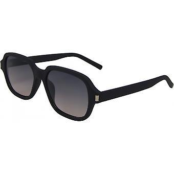 Sonnenbrille Unisex  rechteckig Kat. 3 matt schwarz/grau (4250-A)