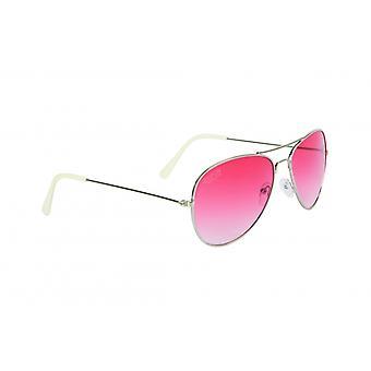 Sunglasses Unisex Pilot Cat.3 Silver/Pink (018)