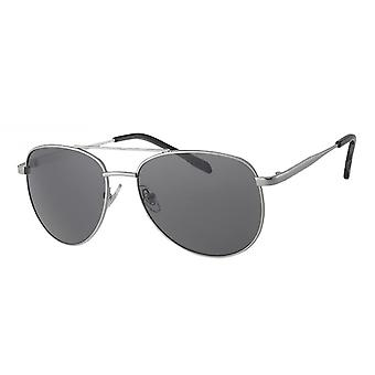 Sunglasses Men's Kat. 3 silver with grey lens (A 10321)