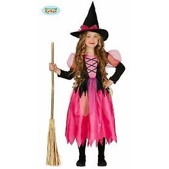 Guirca vaaleanpunainen noita noita puku Halloween Carnival tytöille