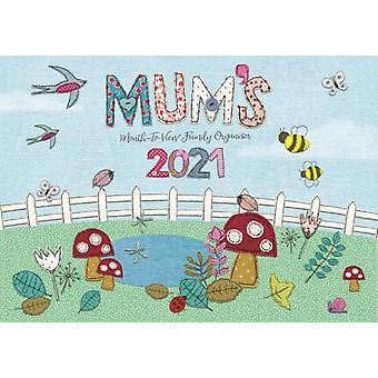 Mums Fabric  Buttons MonthtoView A4 Planner Calendar 2021