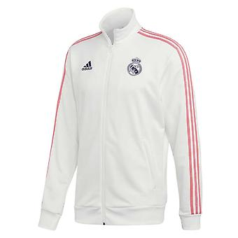 2020-2021 Real Madrid 3S Track Top (bianco)
