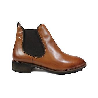 Paul Green 2648-00 Tan Läder Womens Chelsea Boots
