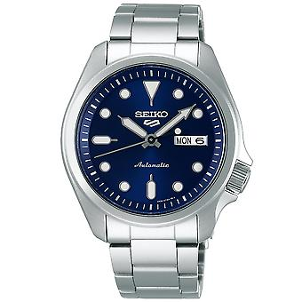 Seiko 5 Sports Automatic Blue Dial Silver Steel Mens Watch SRPE53K1 RRP £230