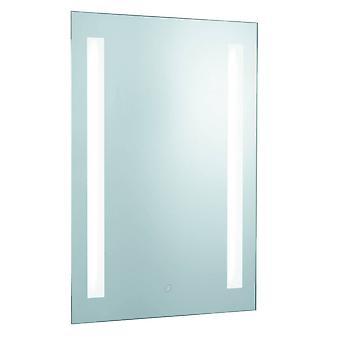 Beleuchtetes Badezimmer Spiegel Touch 2 Light Silver mit Rasierer Sockel IP44
