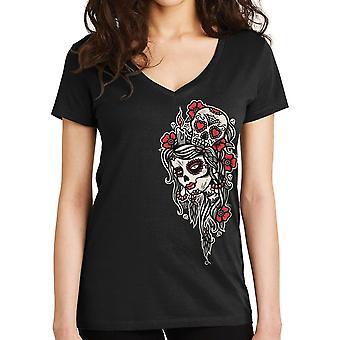 Lucky 13 Women's T-Shirt Little Dead Head
