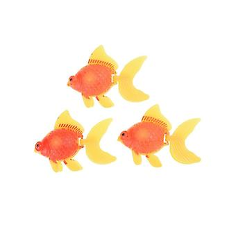 Soft Rubber Small Goldfish Kids Toy - Plastic Simulation Small Fish
