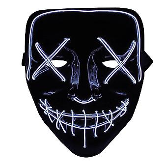 The Purge LED Neon Mask, Halloween - White