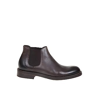 Doucal's Du2516boneuf188tm00 Men's Brown Leather Ankle Boots
