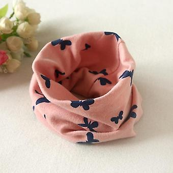 Baby Cotton Scarf, Autumn & Winter / Collar Neckerchief Butterfly O-ring Round