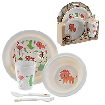Bamboo Composite Zooniverse Kids Dinner Set X 1 Pack