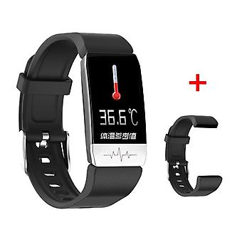 T1 Smart Watch Band Temperature Measure Ecg Heart Rate Blood Pressure Monitor Weather Forecast Drinking Remind