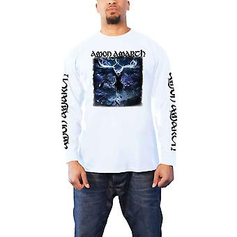 Amon Amarth T Shirt Ravens Flight new Official Mens White Longsleeve