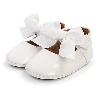 Baby Baptism Shoes, Soft Sole Princess Flats With Cute Ribbon Bow, Non-slip