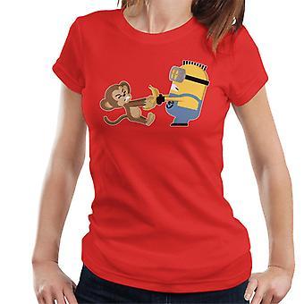Despicable Me Minion Monkey Banana Battle Women's T-Shirt