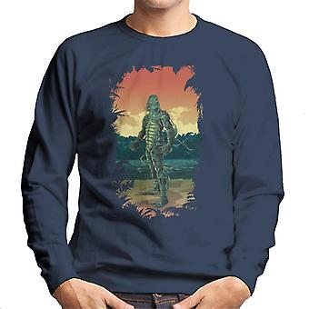 The Creature From The Black Lagoon Full Body Seaweed Men's Sweatshirt