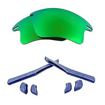 الاستقطاب استبدال العدسات عدة ل Oakley سريع سترة XL الأخضر الأزرق المضادة للخدش المضادة للوهج UV400 من قبل SeekOptics