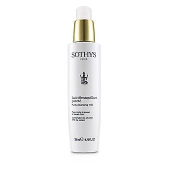 Leite de limpeza da pureza de Sothys-para a combinação à pele oleosa, com extrato 200ml/6.76 Oz da íris