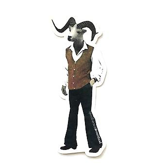 Groovy Sheep Man Vinyl Sticker
