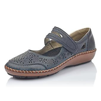 Rieker 44875-14 Cindy Casual Mary-jane Ballet Pump In Navy