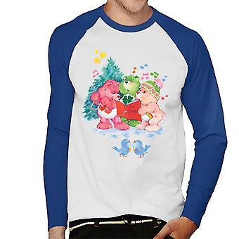 Care Bears Christmas Carol Menn's Baseball Langermet T-skjorte