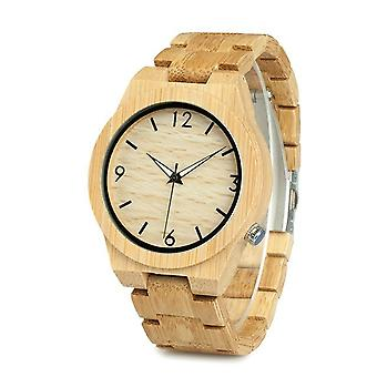 BOBO BIRD WD27 Bamboo Wooden Watch Unique Design Men Quartz Wrist Watch