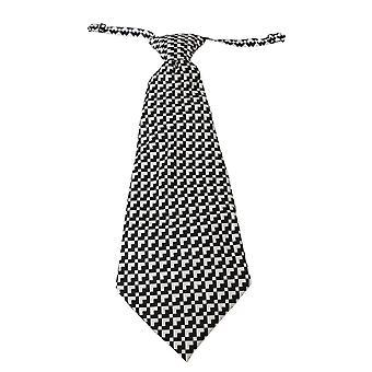 Black patterned mens necktie 100% silk tie