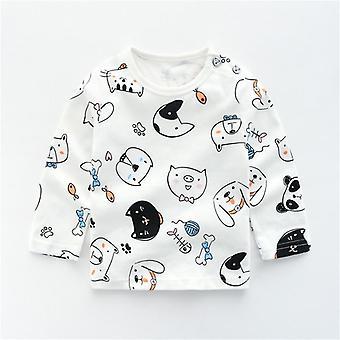 Taapero Casual paidat Vastasyntyneet Vaatteet - Girls Boys Puuvilla Sarjakuva Animal Print