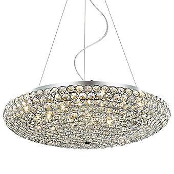 Italux Santo - klassische hängende Anhänger Chrom 12 Licht mit Kristall-Schatten, G9