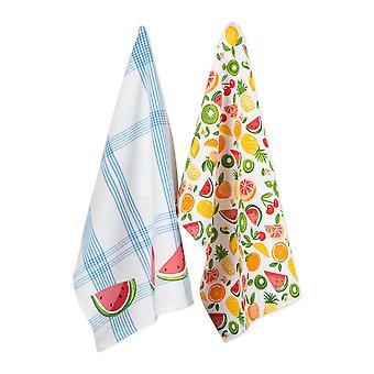 Dii Assortiment Fruity Slice Print Dishtowel (Ensemble de 2)