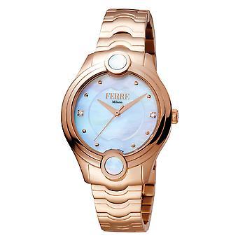 Ferre Milano FM1L083M0051 Women's White MOP Dial Stainle Steel  Watch