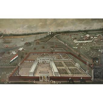 The Trading Post Of The Dutch East India Company In Hooghly Poster Print