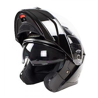 Nitro F350 Uno DVS Modular Flip Up Motorcycle Helmet Gloss Black
