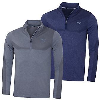 Puma Golf Herren Evoknit 1/4 Zip DryCell Feuchtigkeit Wicking EvoKnit Pullover