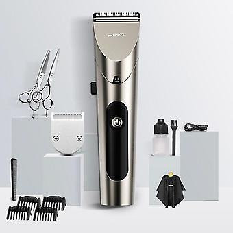 Professional Rechargeable Hair Clipper Re-6305 Grey Washable Steel Blade