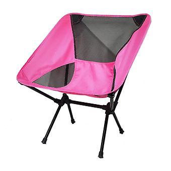 Rose Red Oxford Cloth Mesh Stål Pipe Udendørs Ultralight bærbar klapstol
